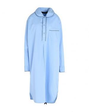 Ночная рубашка AMBASSADOR. Цвет: небесно-голубой
