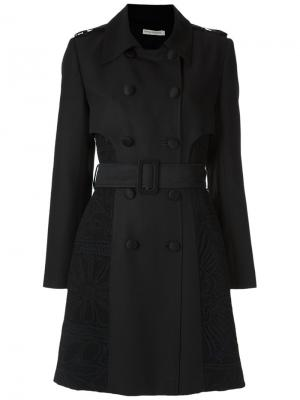 Lace inserts trench coat Martha Medeiros. Цвет: чёрный