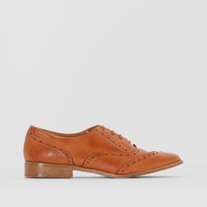 Туфли-дерби из кожи на шнуровке ANNE WEYBURN. Цвет: темно-бежевый
