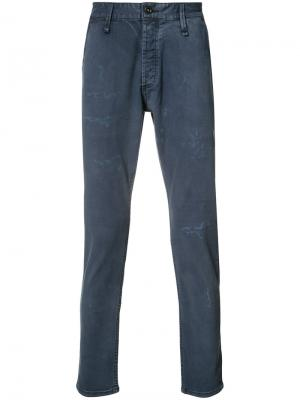 Distressed effect jeans Denham. Цвет: синий