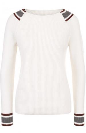 Кашемировый пуловер фактурной вязки Loro Piana. Цвет: белый