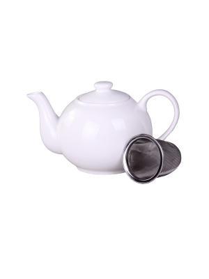 Чайник с металлическим фильтром 1 л. PATRICIA. Цвет: белый