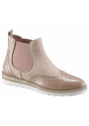 Ботинки челси CITY WALK. Цвет: бежевый, дымчато-розовый, серый