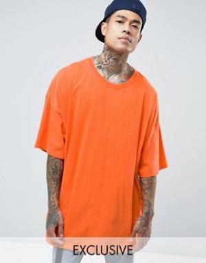 Reclaimed Vintage Oversize-футболка. Цвет: оранжевый