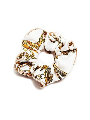 Резинка для волос Kameo-bis. Цвет: белый, коричневый, бежевый