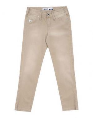 Джинсовые брюки TAKE-TWO TEEN. Цвет: бежевый