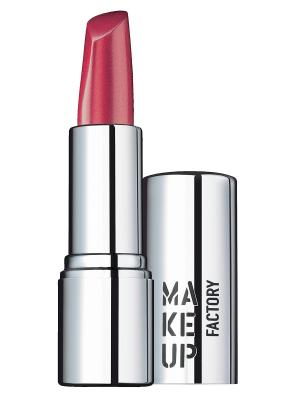 Помада, тон 241 Мягкий ягодный Make up factory. Цвет: серебристый, черный