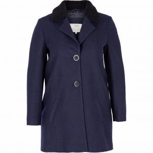 Пальто, 50% шерсти ZIZZI. Цвет: темно-синий