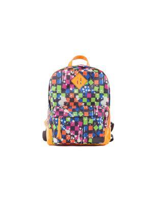 Рюкзак VERSADO. Цвет: синий, оранжевый, салатовый