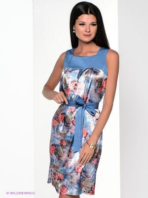 Платье Yulia Dushina. Цвет: синий, коралловый