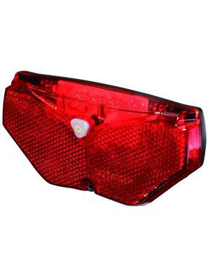 Лампа с 5 красными светодиодами и отражателем для велосипедного багажника D-light. Цвет: черный