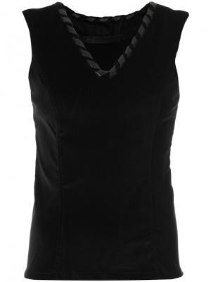 Блузка с V-образным вырезом Uma   Raquel Davidowicz. Цвет: чёрный