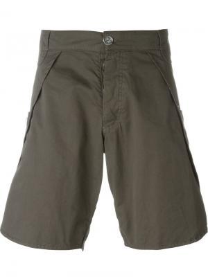 Шорты с боковыми карманами Telfar. Цвет: серый