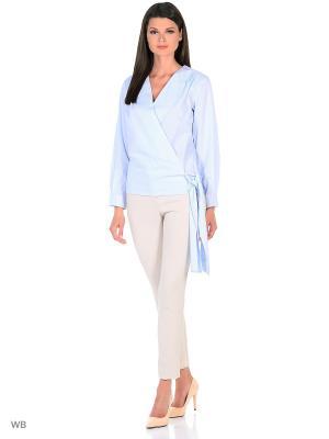 Блузка SARTORI DODICI. Цвет: голубой