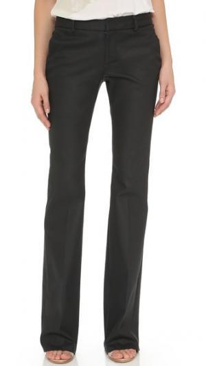 Расклешенные джинсы с покрытием Tess Giberson. Цвет: черный, с покрытием