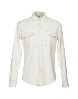 Джинсовая рубашка MSGM. Цвет: слоновая кость