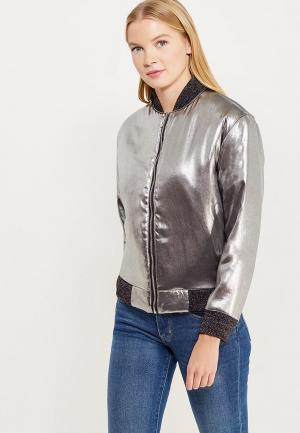 Куртка Soeasy. Цвет: серебряный