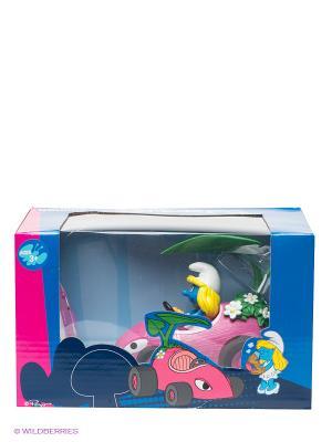 Радиоуправляемая машинка Смурфетта Смурфики. Цвет: розовый, желтый, черный