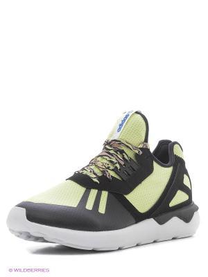 Кроссовки TUBULAR RUNNER Adidas. Цвет: черный, светло-желтый