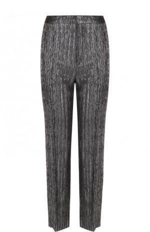 Укороченные брюки со стрелками и металлизированной нитью Isabel Marant. Цвет: серебряный