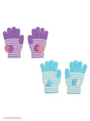 Перчатки FOMAS. Цвет: голубой, фиолетовый