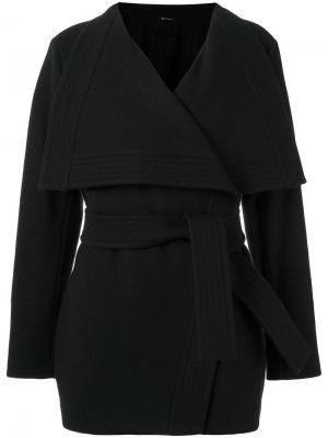 Tie fastening coat Uma   Raquel Davidowicz. Цвет: чёрный