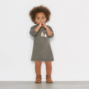 Платье из трикотажа 1 мес-3 лет R édition. Цвет: темно-серый