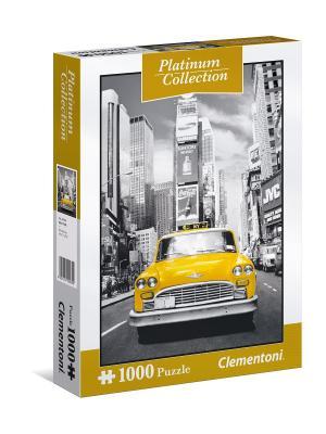 Пазл Платиновая коллекция. Нью-Йорк. 1000 элементов. Clementoni. Цвет: серый, желтый