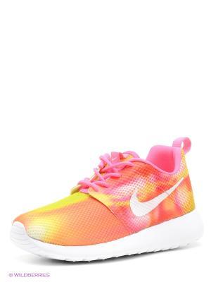 Кроссовки Nike. Цвет: оранжевый, желтый