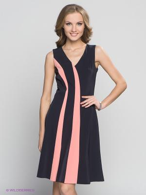 Платье Capriz. Цвет: темно-синий, бледно-розовый