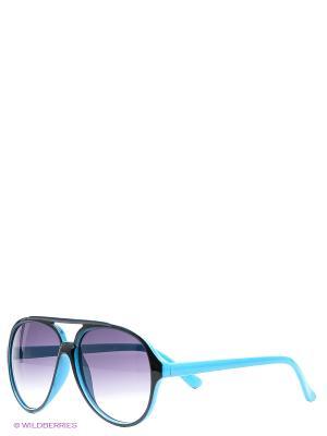 Солнцезащитные очки Oodji. Цвет: бирюзовый