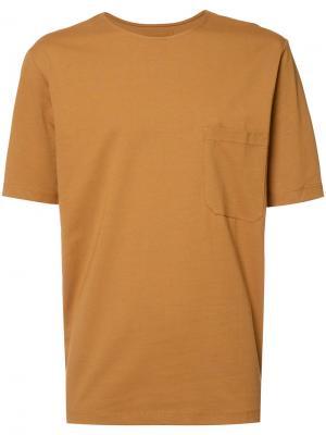 Футболка с нагрудным карманом Lemaire. Цвет: коричневый