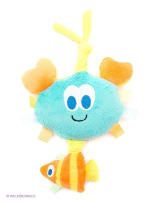 Развивающая игрушка подвеска Крабик Amico. Цвет: бирюзовый, оранжевый