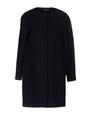 Пальто LAURA URBINATI. Цвет: темно-синий