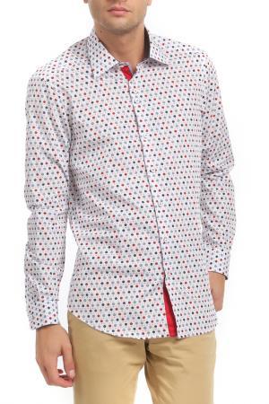 Рубашка Gabano. Цвет: white, blue, red