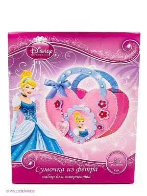 Набор для творчества  Disney принцессы сделай сумочку из фетра Multiart. Цвет: красный