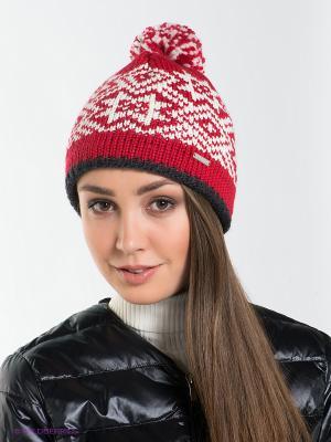 Шапка Viking caps&gloves. Цвет: красный, белый