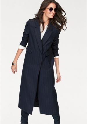 Пальто Aniston. Цвет: темно-синий