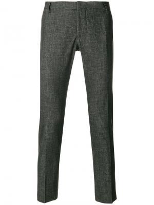 Классические укороченные брюки Entre Amis. Цвет: серый