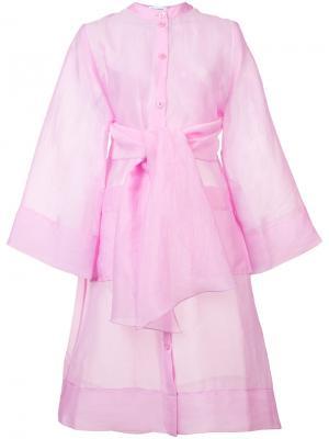 Кимоно с поясом на талии Rodebjer. Цвет: розовый и фиолетовый