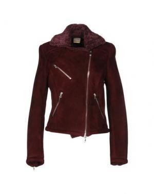 Куртка D'AMICO. Цвет: красно-коричневый