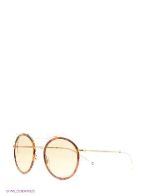 Солнцезащитные очки GUCCI. Цвет: золотистый, черный