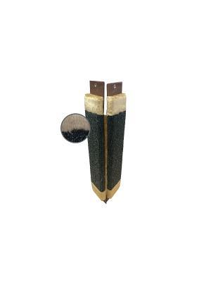 Когтеточка Неженка малая ковровая угловая с мехом, 51*20 см. Цвет: серый, коричневый