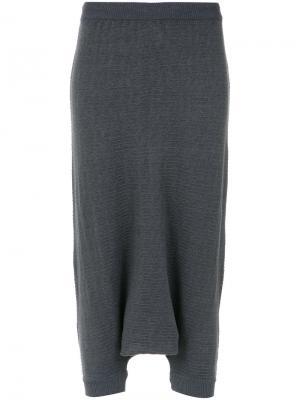Rafaela knit drop crotch pants Uma | Raquel Davidowicz. Цвет: серый