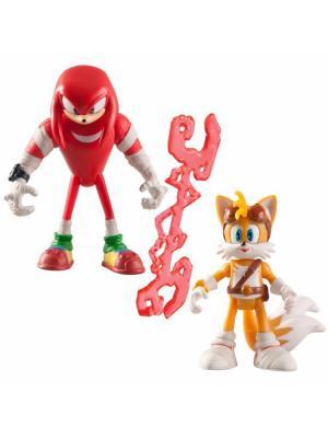 Игрушка Sonic 2 фигурки в блистере, 7,5 см Накл и Тейлз Boom. Цвет: красный