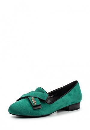 Лоферы Grand Style. Цвет: зеленый