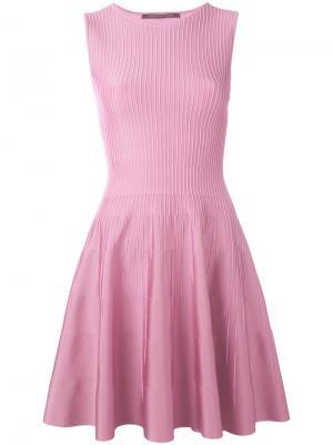 Платье-шифт Antonino Valenti. Цвет: розовый и фиолетовый
