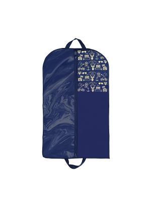 Чехол для одежды Hipster Style Premium (100х60 см) Homsu. Цвет: синий, бежевый
