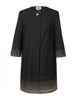 Пальто KR. Цвет: черный, золотистый