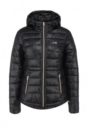 Куртка утепленная Li-Ning. Цвет: черный